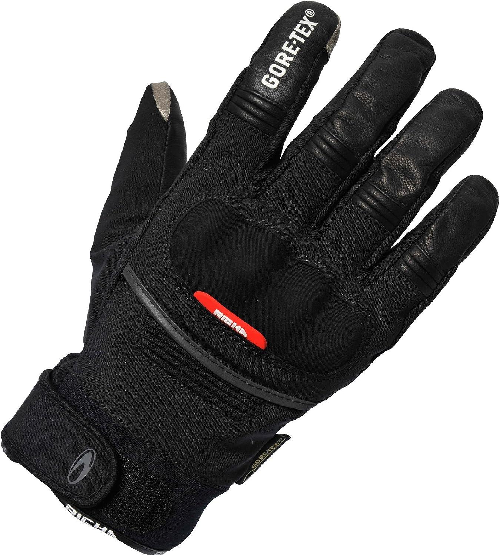 Richa City GTX GoreTex Waterproof Motorcycle Gloves Black