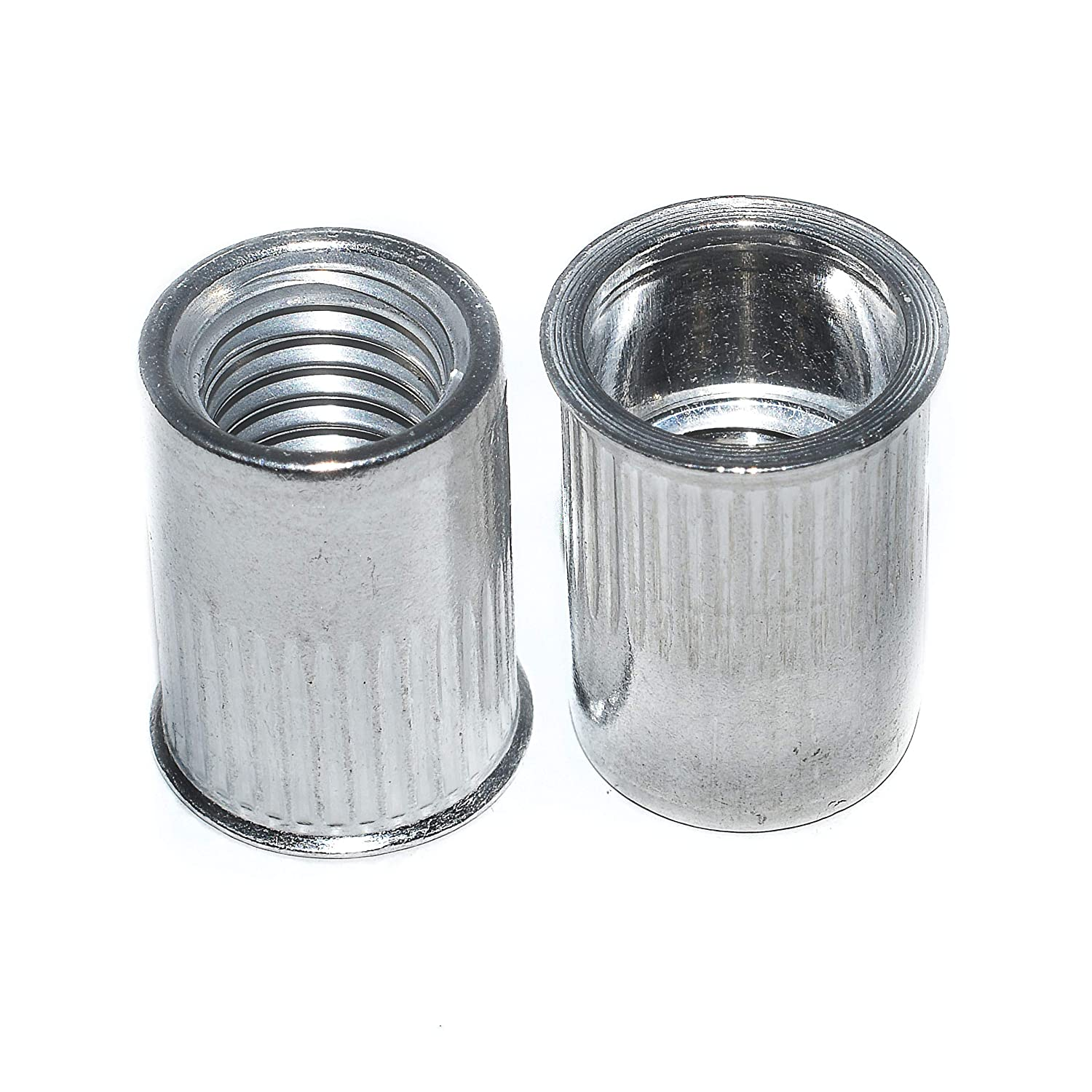 Pack of 100 3.2 x 10mm Grooved Open Dome Head Aluminium Steel Blind Rivets