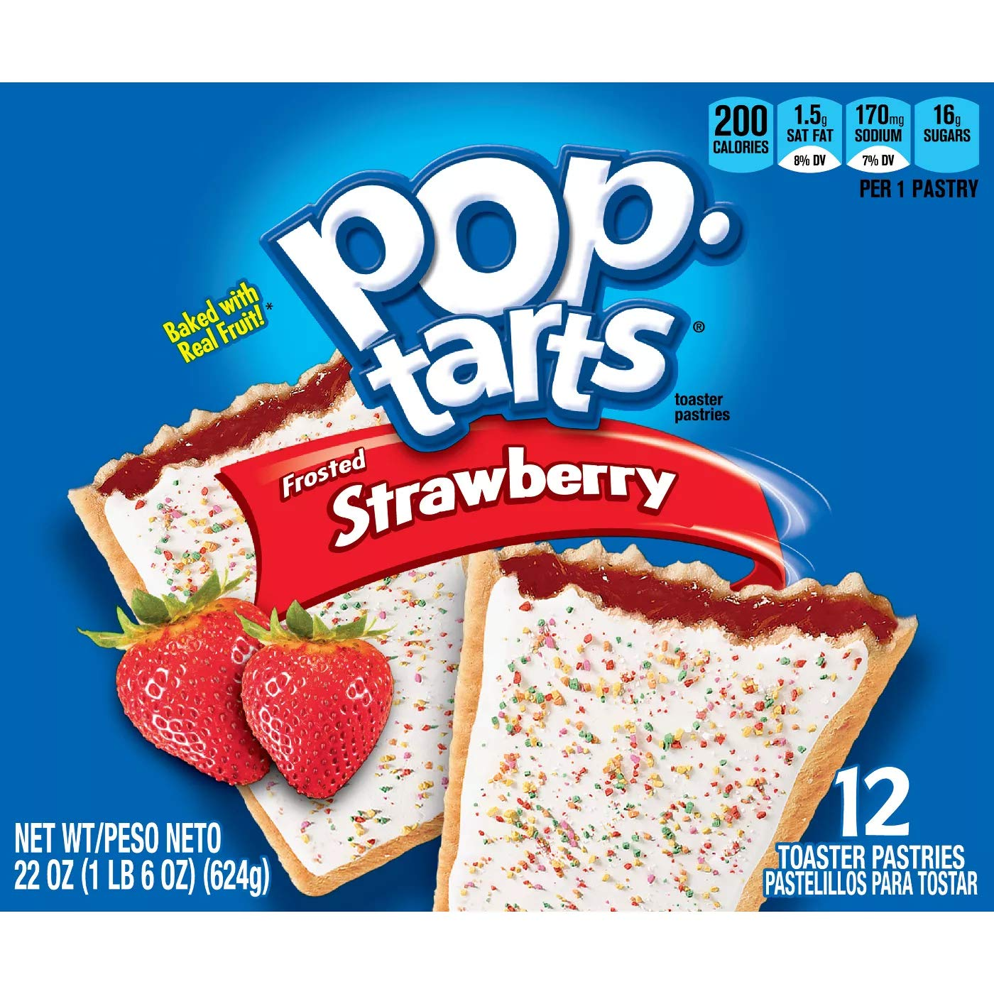 Kellogg's Pop-Tarts Frosted Strawberry Toaster Pastries (12 count)