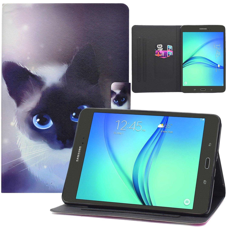 Galaxy Tab A 8.0ケース, sm-t350 / 355 C / p350 / p355 Cケース[自動スリープ/スリープ解除、Dteckスリムライトでスマートスタンドケースフリップ] PUレザーマグネット式財布型カバーfor Samsung Galaxy Tab A 8 2015リリース B07D1MZFH7 10 Little Cat 10 Little Cat