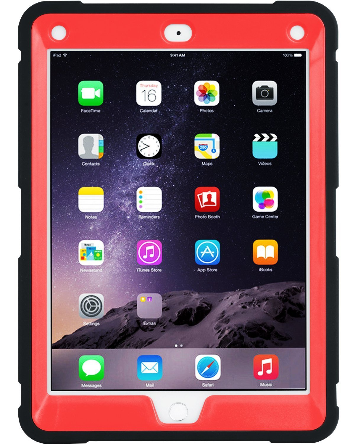 iPad Air 2 Case Kids Friendly Hybrid Hard PC Soft Silicone Bumper Rugged Triple-Layer Shock-Resistant Drop Proof Protective iPad Case Cover with Kickstand for Apple iPad Air 2 with Retina Displa Apple iPad Air 2 Case BENTOBEN iPad 6 Case 2014 Release