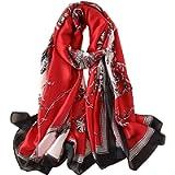 YMXHHB Silk Scarf 100% Mulberry Silk Fashion Scarves Long Lightweight Shawl Wrap …