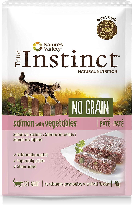 True Instinct No Grain Paté de Salmón con Verduras para Gatos 70 gr - Pack de 8