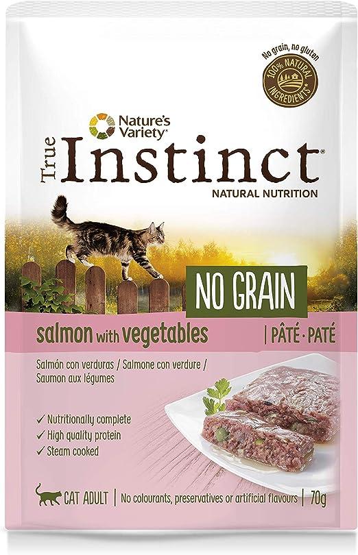 Oferta amazon: True Instinct No Grain Paté de Salmón con Verduras para Gatos 70 gr - Pack de 8