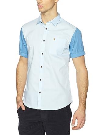 Farah Vintage - Chemise - Homme - bleu-89-TR-A3 - FR   Large (Taille  fabricant   Large)  Amazon.fr  Vêtements et accessoires 547bf11035dd