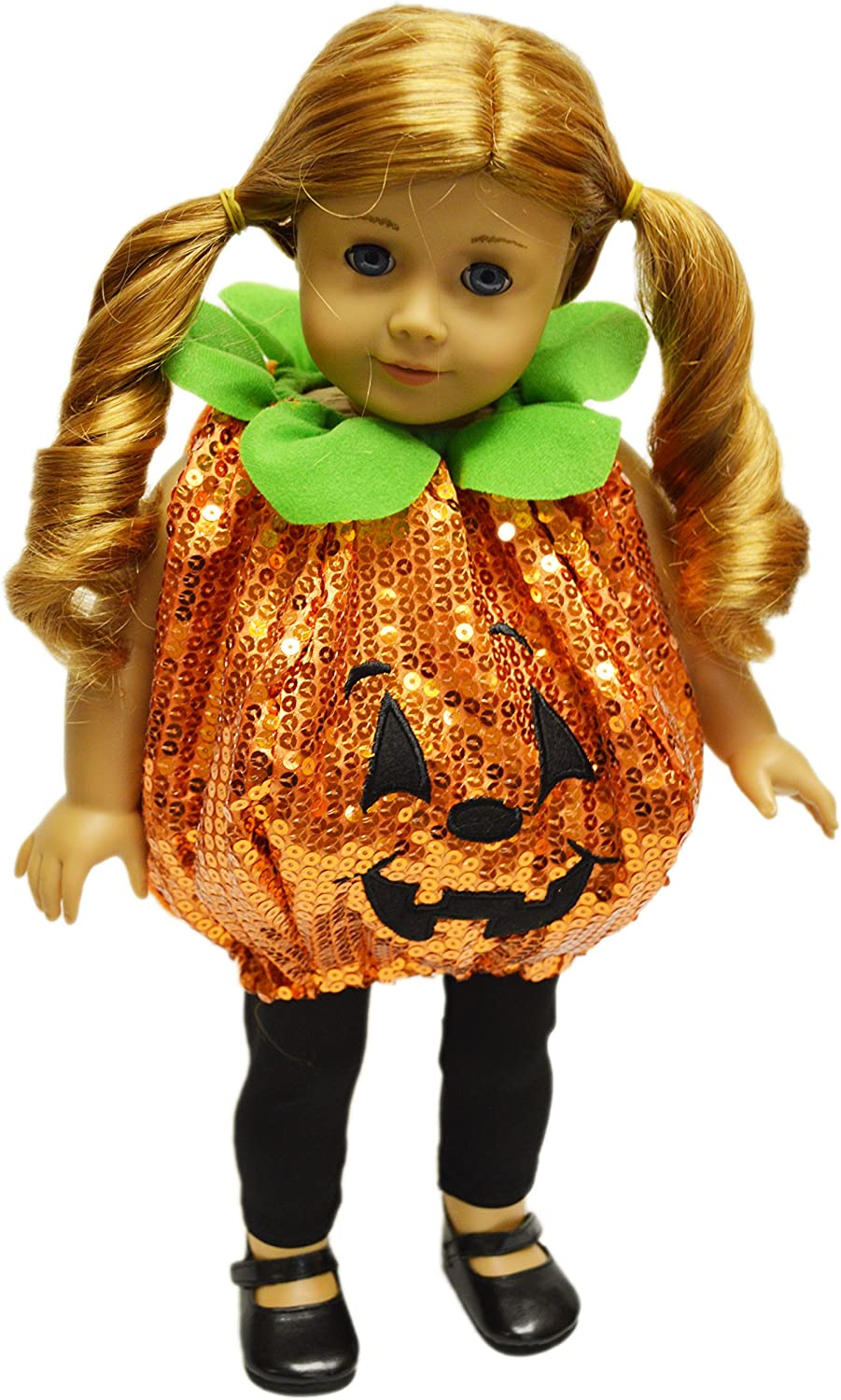 Halloween Outfit Candy Corn Pajamas fits 18 inch American Girl Doll Clothes