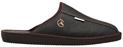 estro mens slippers men house shoes leather home mule men s slipper