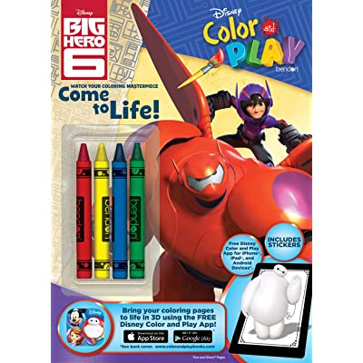 Bendon Disney Big Hero 6 Color and Play 32-Page Activity Book: Bendon: Toys & Games