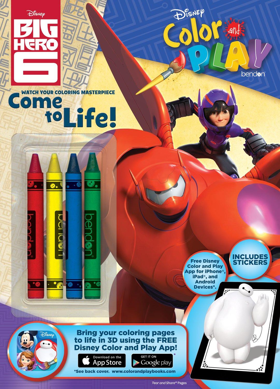 Amazon.com: Bendon Disney Big Hero 6 Color and Play 32-Page ...