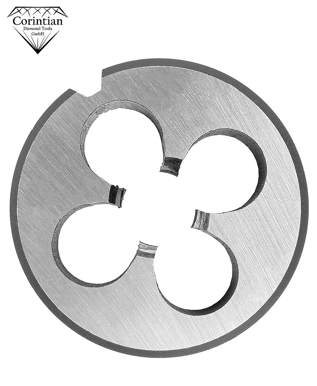 Corintian Pr/äzisions Schneideisen Gewindeschneider Form B Gewindeschneideisen mit beidseitigem Sch/älanschnitt /Ø M1 Rechtsgewinde DIN 223 M5 M24