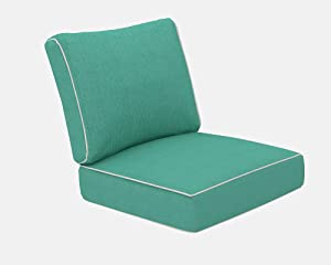 Living Express Patio Furniture Cushion, Outdoor Chair Cushion, Deep Seating Seat/Back Cushion Set, Replacement Cushions Set, 24