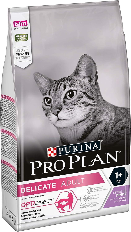 PURINA Pro Plan Comida Seco para Gato Delicate con Optirenal, Sabor Pavo - 1.5 Kg