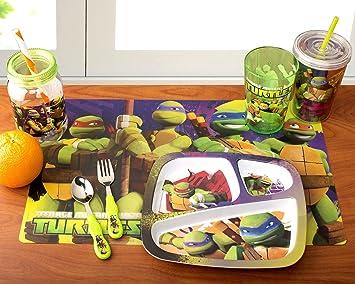 Designs Teenage Mutant Ninja Turtle 3-Piece Dinnerware Set Including 3-  sc 1 st  Amazon.com & Amazon.com : Zak! Designs Teenage Mutant Ninja Turtle 3-Piece ...