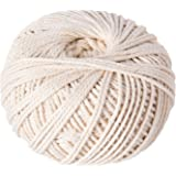 Shappy Polyester-cotton Cord Rope DIY Craft Cord Knitting Rope String, Natural Color (120 Meters, 2 mm)