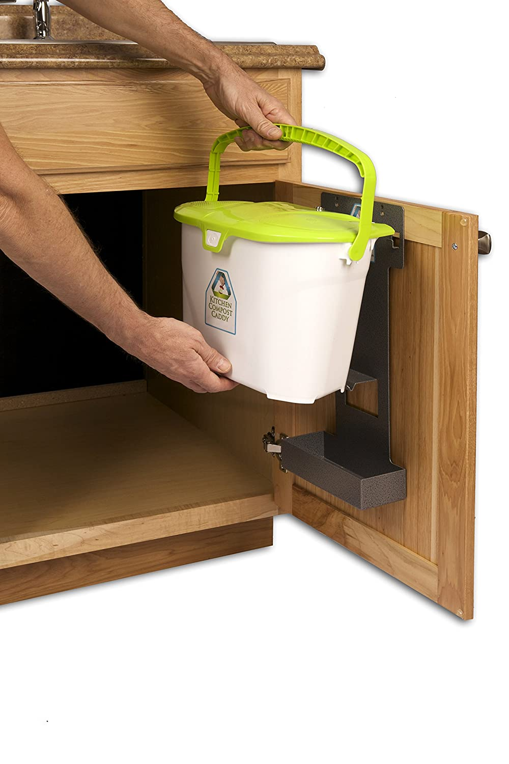 Captivating Amazon.com: Kitchen Compost Caddy Cabinet Mounted Compost Bin   Pail System  With Storage For Compost Bags: Kitchen U0026 Dining