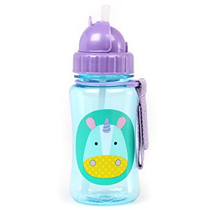 Kids Child Bottle 12 Oz Skip Hop Zoo Straw Baby 12 Months