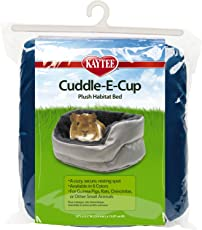 Kaytee Super Sleeper Cuddle E-Cup Bed for Small Animals, Colors Vary