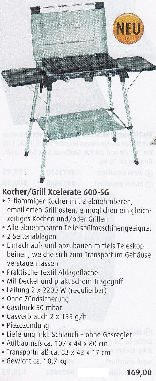 STABIELO - 2 FLAMMIGER - KOCHER/GRILL MIT ABNEHMAREN EMAILLIERTEN GRILLROSTEN - 50 mbar ANSCHLUSS - VERTRIEB durch - Holly ® Produkte STABIELO ® - holly-sunshade ® - patentierte Innovationen im Bereich mobiler universeller Sonnenschutz - Made in Germany -