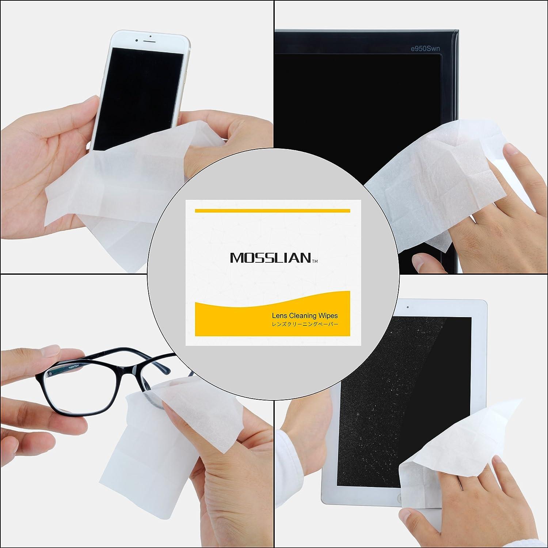 MOSSLIAN Toallitas de Limpieza para Gafas, Pantalla de iPhone 6 6s Plus 5s, Samsung Galaxy S7 S6 Edge Note 5, HTC, LG, Blackberry, Motorola Teléfonos, ...