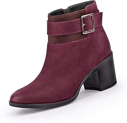 Alfombra tomar En expansión  Geox Mujer Botines New ASHEEL, señora Botines: Amazon.es: Zapatos y  complementos