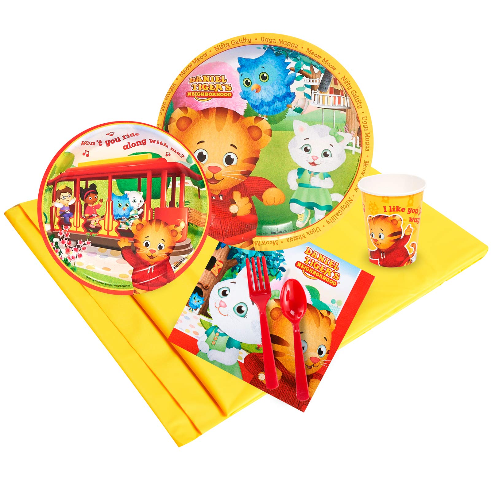Birthday Express Kits Daniel Tigers Neighborhood 16 Guest Party Pack