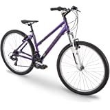 "27.5"" Royce Union RMT Womens 21-Speed All-Terrain Mountain Bike, 15"" Aluminum Frame, Twist Shift, Eggplant Purple"