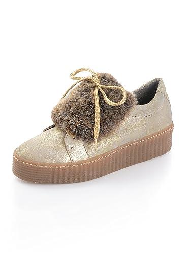 6fc7d5d076e1 Alba Moda Damen Sneaker mit derber Gummisohle: Amazon.de: Schuhe ...