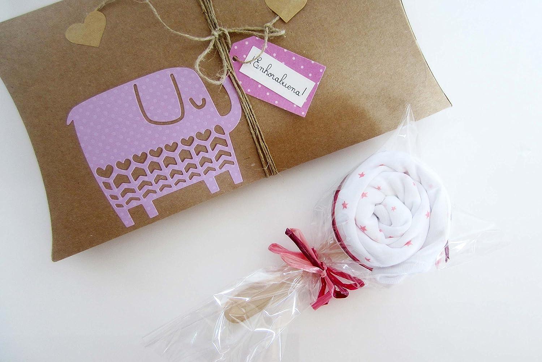 Body de diseño de piruletas + caja de regalo   Idea regalo para ...