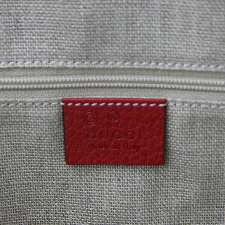 ded5908fbda9 Gucci GG Charm Red Leather Medium Convertible Dome Bag 449662 6420:  Amazon.ca: Shoes & Handbags