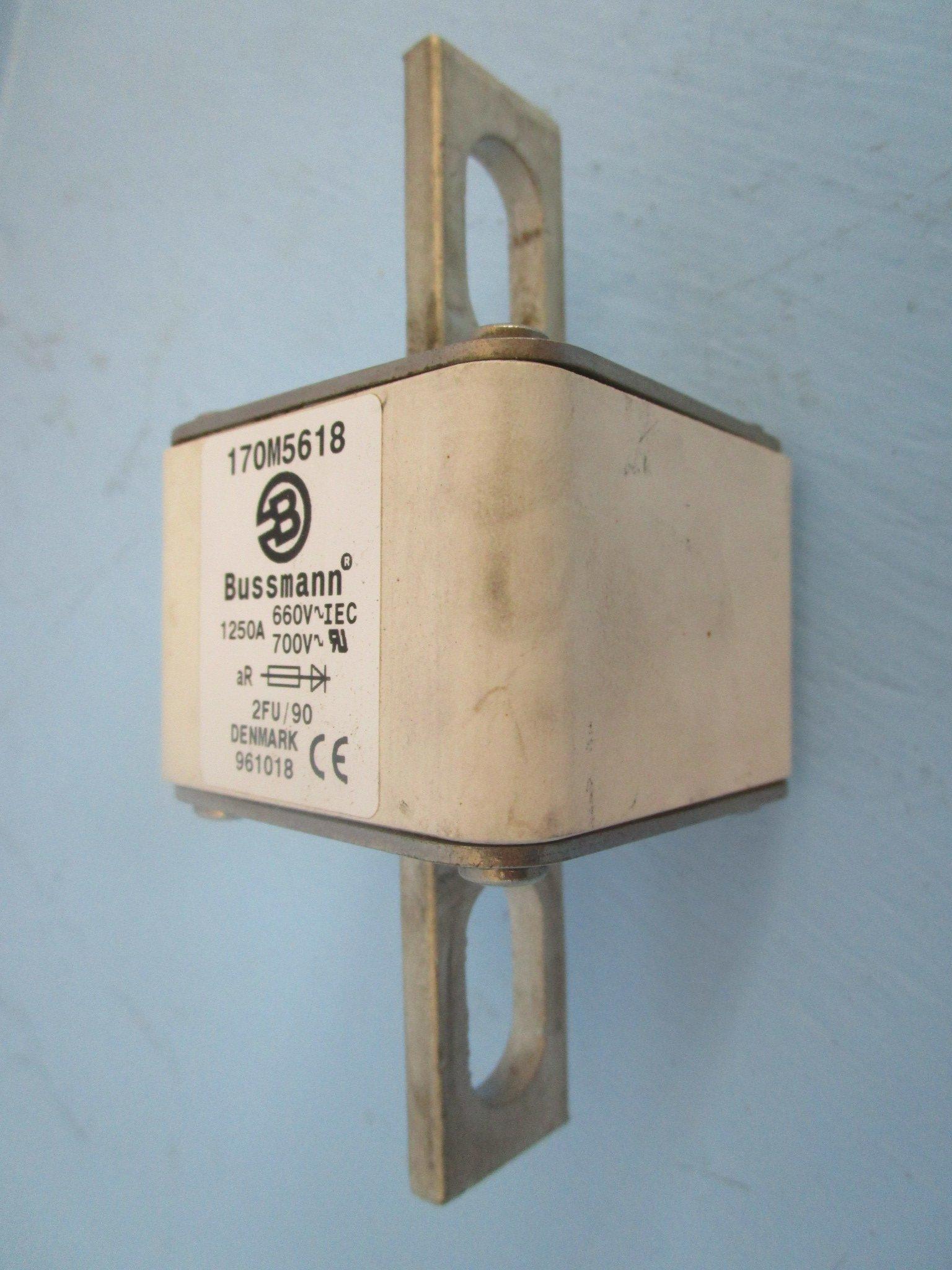 Bussmann 170M5618 1250A 660V~IEC 700V~RU 2FU/90 Denmark 961018 Fuse 1250 Amp A