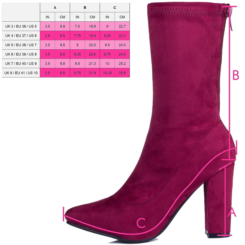 22282aaf8c52 Spylovebuy Dark Horse Women s Wide Calf Block Heel Ankle Boots Shoes   Amazon.co.uk  Shoes   Bags