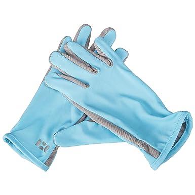 d1539d35b HOII UPF50+ Anti-UV Sun Protective Unisex Gloves One-Size (Blue) at ...