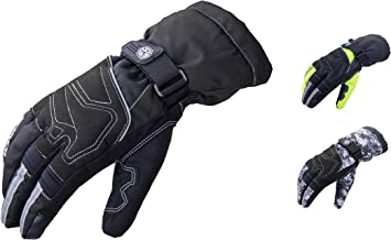 M Moto Cross Moped Outdoor Sports Bike Winter Hiking Winter Motorbike Gloves Waterproof Mens Womens Touchscreen Windproof Warm Long Cuff Motorcycle Gloves Touchscreen for Scooter