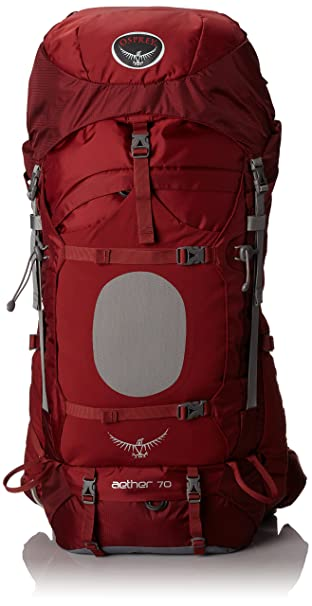 Amazon.com : Osprey Men's Aether 70 Backpack, Arroyo Red, Small ...