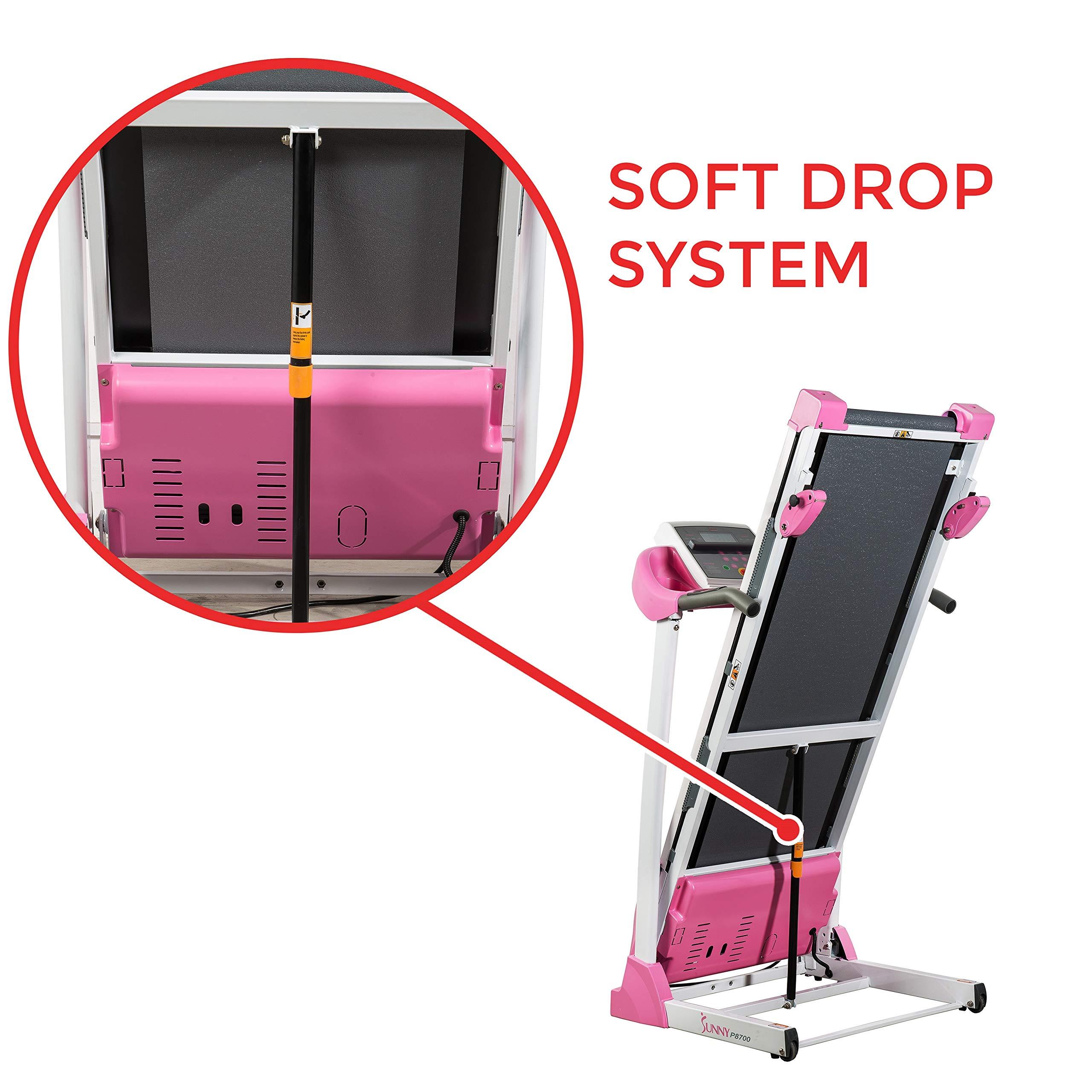 Sunny Health & Fitness P8700 Pink Treadmill by Sunny Health & Fitness (Image #8)