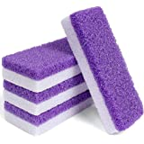 Edealing Foot Pumice Stone 4 Packs Set Double Sided Callus Remover Hard Skin and Dead Skin Scrubber Pedicure Tools for Foot C