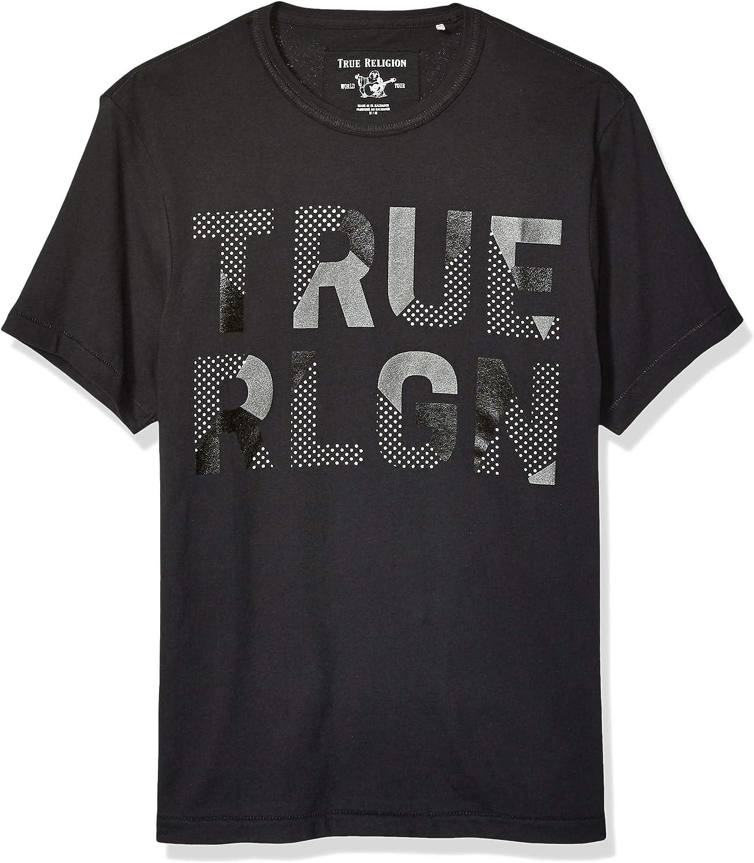 True Religion Men's Ss Tr Rubber Metalic Tee