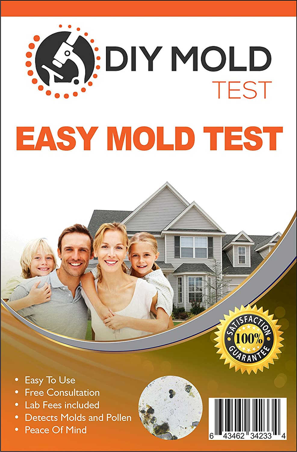 DIY Mold Test, Mold Testing Kit (3 tests). Lab Analysis and Expert Consultation included
