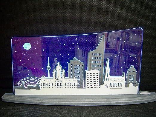 Deko Geschenke Shop 3d Led Lichterbogen Plexiglas Schwibbogen Mit Holz Leipzig Panorama47x22cm Amazon De Kuche Haushalt
