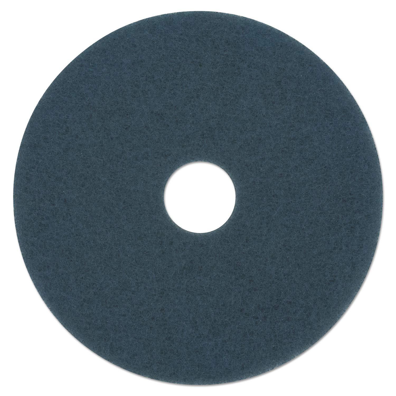 Boardwalk Scrubbing Floor Pads, 19'' Diameter, Blue, 5/Carton by Boardwalk