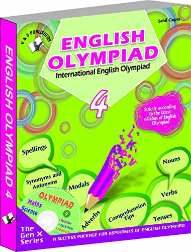 International English Olympiad - Class 4  with CD: Essential Principles with Examples; Mcqs and Solutions; Model Test Papers