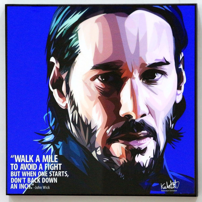 original autograph unique gift idea John Wick movie poster fine art print of an original digital drawing of Keanu Reeves as John Wick