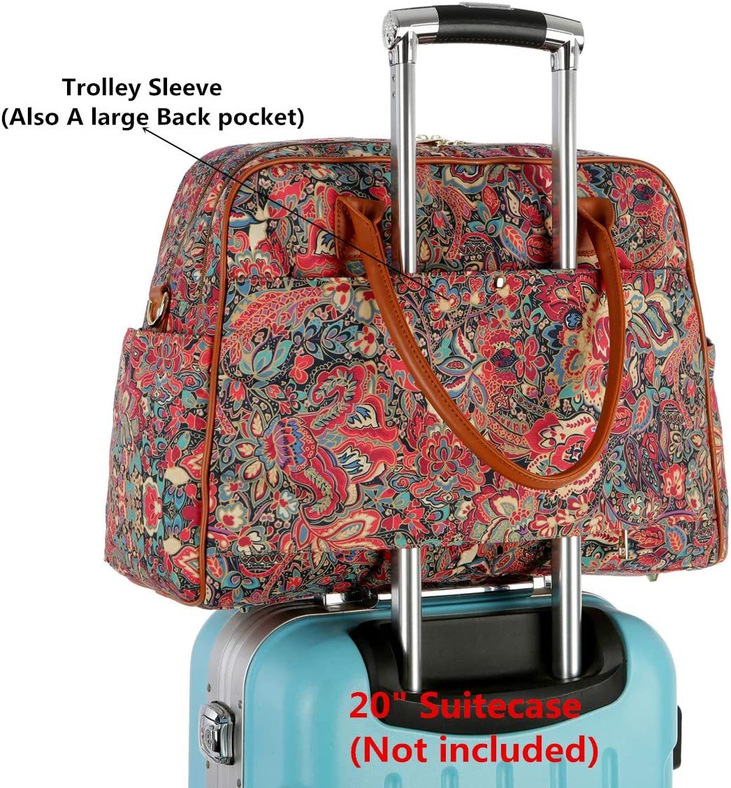 BAOSHA Patterned Polyester Travel Duffel Tote Bag Carry On Weekender Overnight bag for Women HB-33 HS