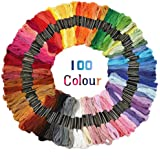 Colour Floss Embroidery Cross Stitch Threads Crafts 50/100/150 Skeins Cross-Stitching Sewing Thread Kit(100 Skeins Per Pack)
