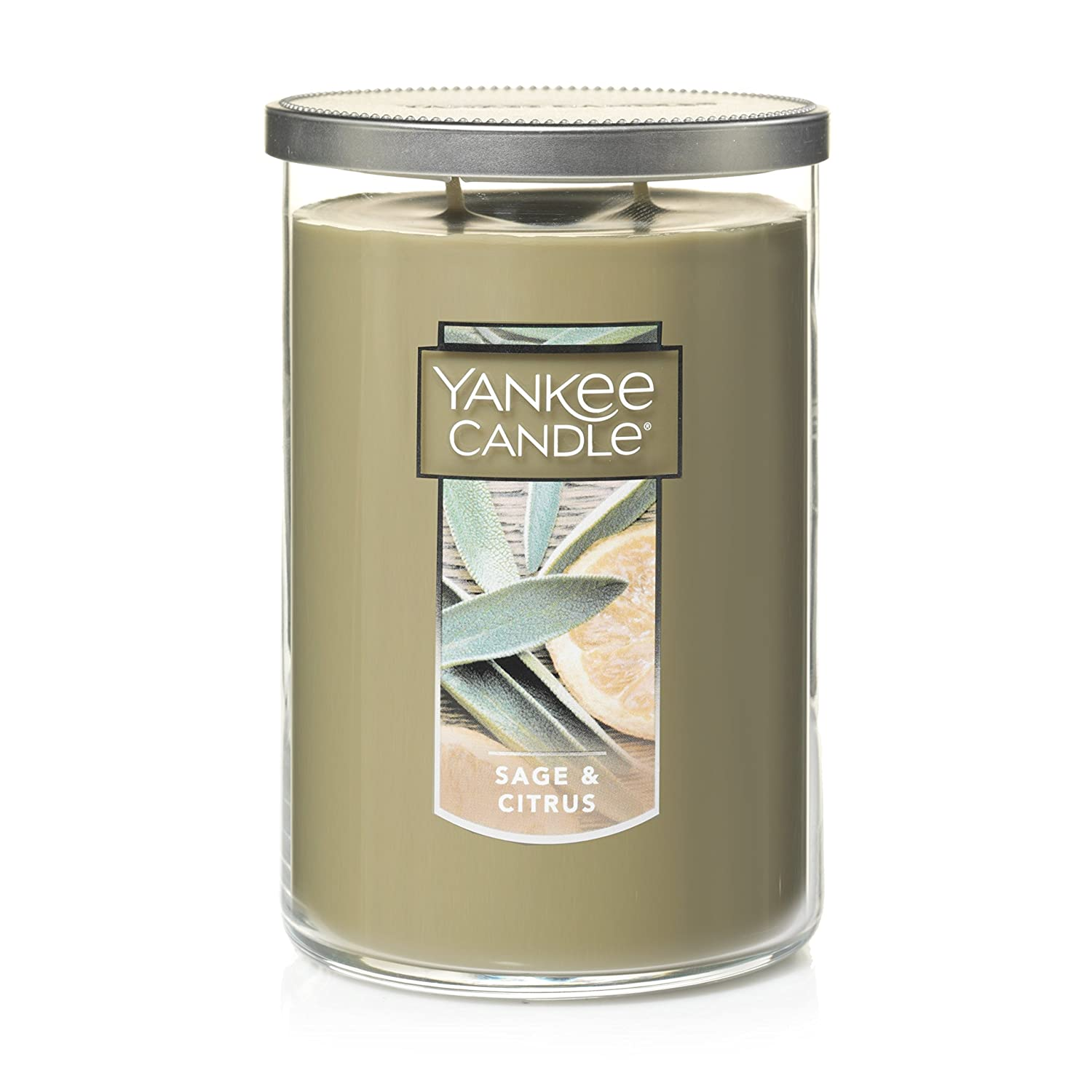 Yankee Candle Large Jar 2 Wick Candle Sage & Citrus Scented Tumbler Candle Premium Grade Candle Wax with up to 110 Hour Burn Time