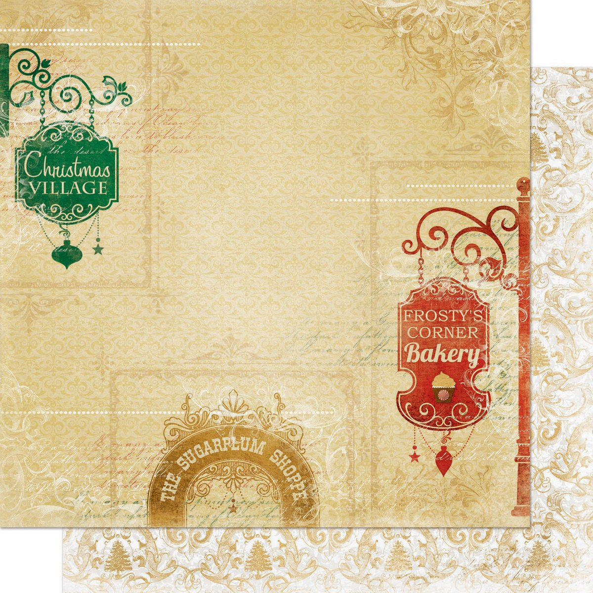 Silver & Gold Double-Sided Cardstock 12''X12''-Gift Shoppes
