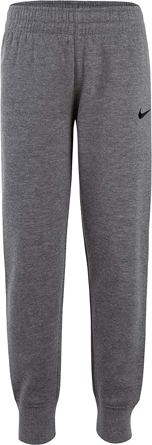 Nike Kids Boys' Toddler Fleece Jogger Pants, Dark Grey Heather/Gray, 3T