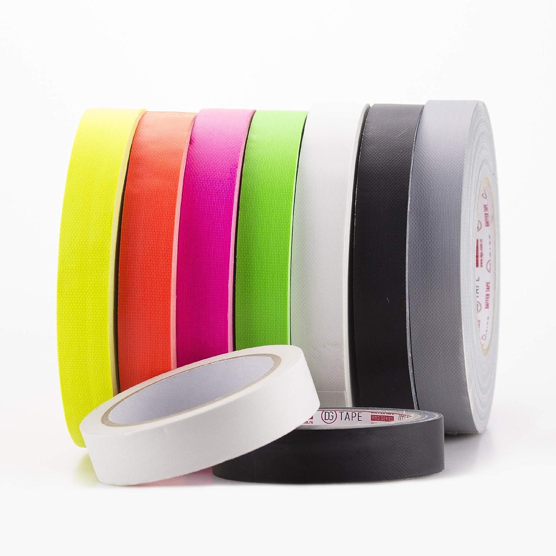 Easy Tear by Hand Non Reflective Matt+UV+NEON 1in x 55yard - Pink 1 inch x 55 ya Fluorescent Gaffer Tape Premium Grade Gaffer Tape from 100/% Japan Brand DGTAPE Matte Finish Spike