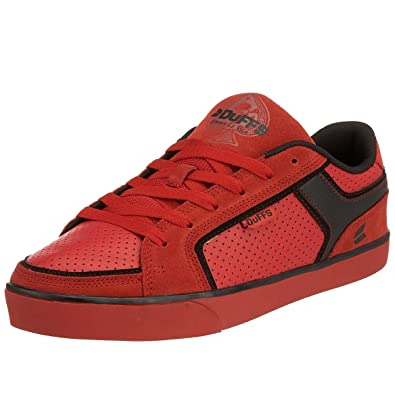 850473fb3f Duffs Men s Forge Skateboarding Shoe Chinese Red Black D132-REB 6 UK ...