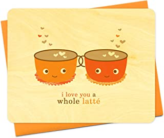 product image for Night Owl Paper Goods Latte Love Wood Card